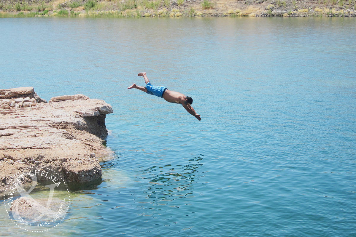 Lake Mead is the Best Day Trip from Las Vegas for Cliff Jumping and Diving